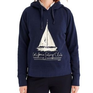 Jcrew California Sailing Club Hoodie M Nwt